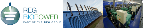 REG Biopower logo and power stations